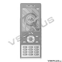 Корпус Sony Ericsson W995, черный, high copy