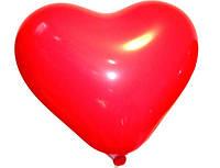 """Сердце латексное 11"""" 28 см  Кристалл красное 42"""