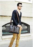 Мужская кожаная сумка.  Модель 425, фото 6
