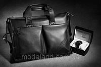 Мужская кожаная сумка.  Модель 425, фото 2