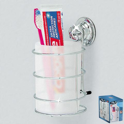 Cтакан для зубных щеток и пасты на вакуумных присосках Еверлок