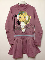 Детская одежда оптом Платье теплое для девочек оптом р.116-128-140, фото 1