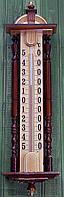 """Термометр фасадный большой """"Усадьба"""" из дерева"""