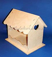 Кормушка с резной крышей заготовка для декора