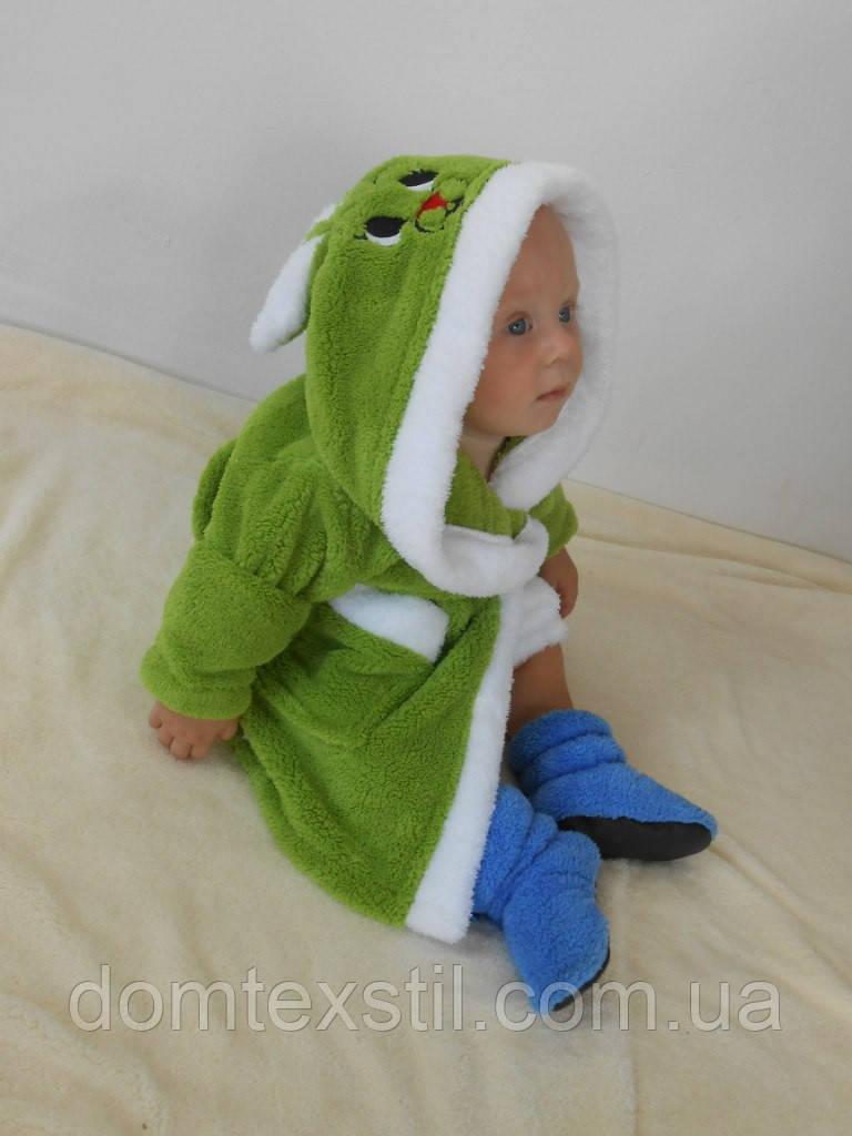 Халат детский  зеленый