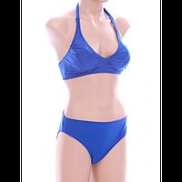 Раздельный купальник Esta 16709 синий, завышенные трусики