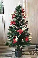 Новогодняя , оптоволоконная , светящая елочка 150 см с колокольчиками
