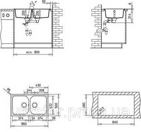 Кухонная мойка TEKA ALBA 90 B-TG  песочный, фото 2