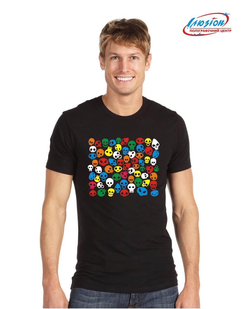 Мужская футболка с принтом черепа