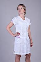 Женский медицинский халат с коротким рукавом