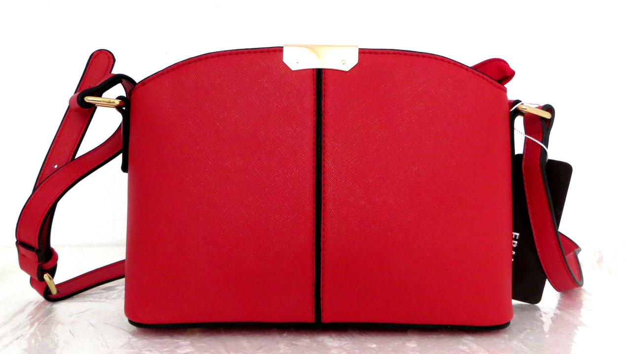 Женская сумка  через плече Эко-кожа. Красная