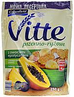Сухой завтрак Crownfield Vitte Psznno-Ryzowe z owocami Egzotycznymi 250г.