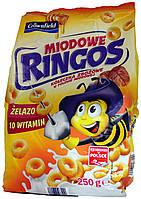 Сухой завтрак Crownfield Miodowe Ringos 250г.