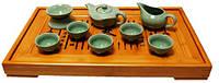 Набор для чайной церемонии на 6 персон, гайвань или чайник, чахай, пиалы, сито