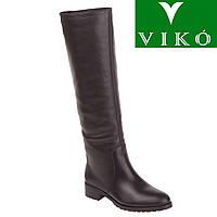 Ботфорты женские Viko (кожаные, на низком каблуке, стильные, удобные, классический дизайн)