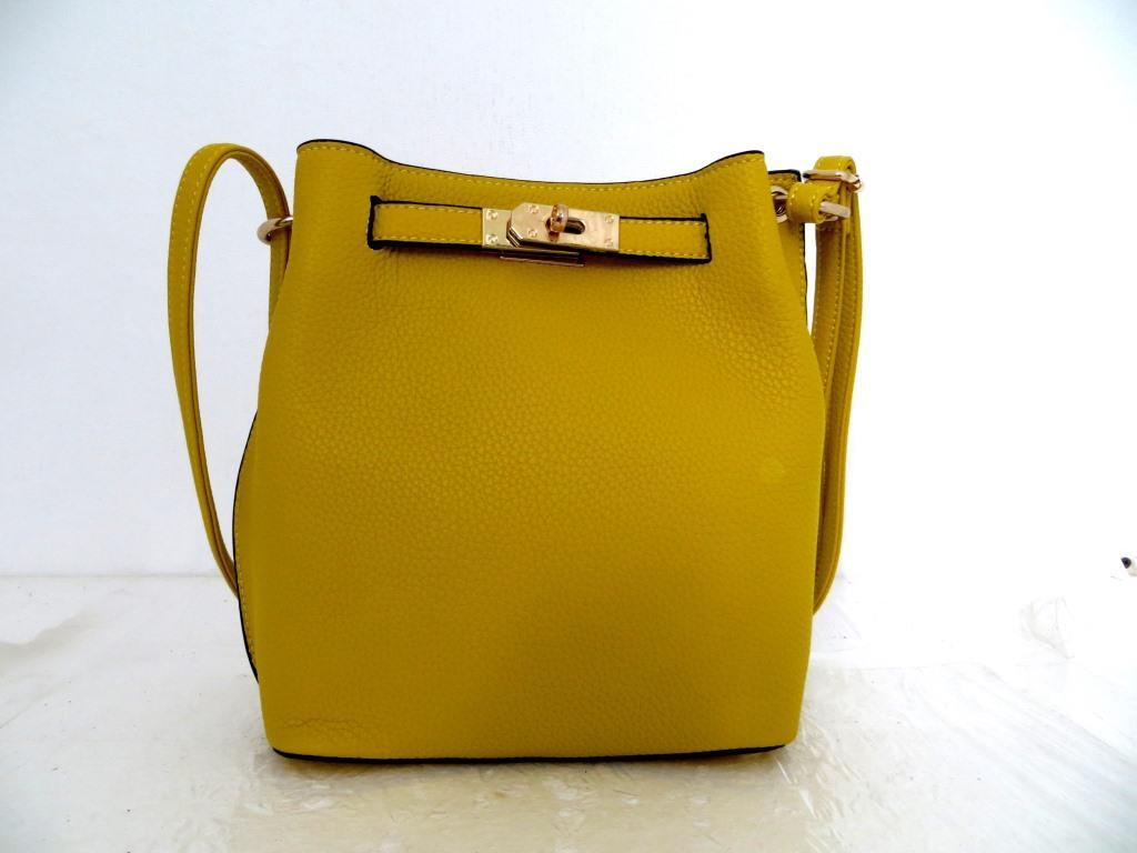 Женская сумка  через плече Эко-кожа. Желтая