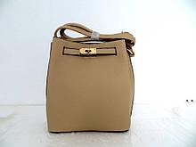 Женская сумка  через плече Эко-кожа. Бежевая