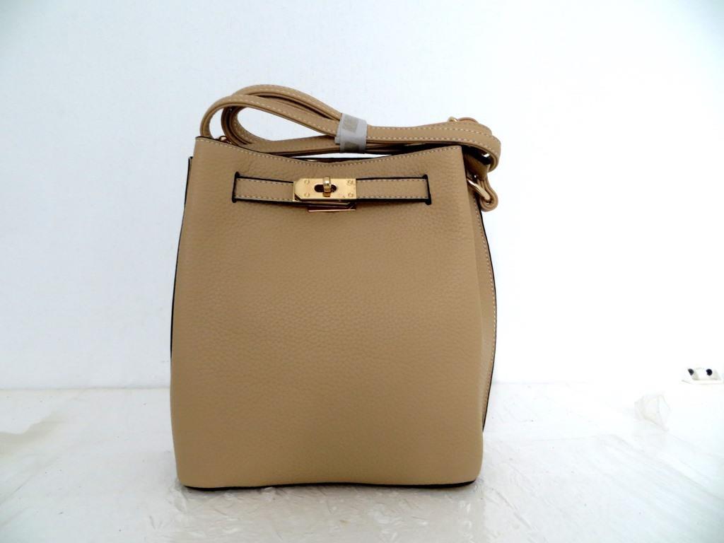 Женская сумка  через плече Эко-кожа. Бежевая, фото 1