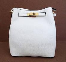 Женская сумка  через плече Эко-кожа. Белая