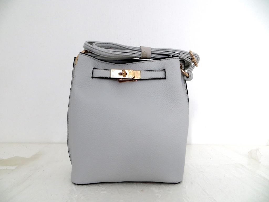 Женская сумка  через плече Эко-кожа. Серая
