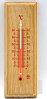 Термометр комнатный деревянный Ясень