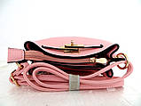 Женская сумка  через плече Эко-кожа. Розовый, фото 4