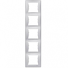 Рамка 5 постов вертикальный монтаж алюминий Schneider Electric Sedna