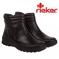 Ботинки женские Rieker (зимние, кожаные, на овчине, практичные, комфортные)