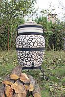Тандыр из шамотной глины № 2 (дизайн булыжник)