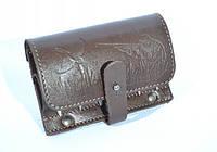 Подсумок на 6 патронов (7,62 нарезные) кожаный коричневый, фото 1