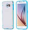 Чехол TPU+PC прозрачный светящийся в темноте для Samsung Galaxy S7 Edge голубой