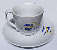 Чашки с блюдцами и надписями в Киеве