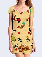 Милое платье Подарки из Рима с очаровательным рисунком