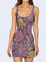 Модное 3D-платье-майка Удивительные цветы с красочным рисунком