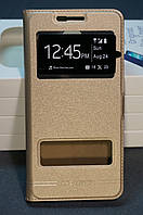 Чехол книжка для Samsung A710F DS (Galaxy A7 2016) DUAL SIM золотой (золото)