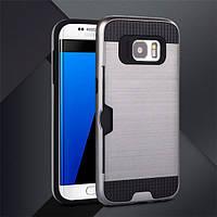 Чехол с слотом для Samsung Galaxy S7 edge серый, фото 1