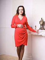 Женское платье  для беременных Роза  размеры 42, 44, 46, 48 коралловое