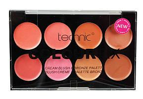 Палетка румяна и кремовый бронзатор Technic Colour Fix Cream 8 Colour Blush & Bronzer Palette