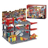 Детский гараж-паркинг Тачки P1299, 3 этажа, 6 машинок