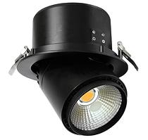 Светодиодный светильник врезной поворотный  KD-D30B/BL 35W