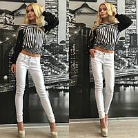 Женские джинсы белые Р 1245