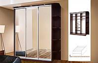 Шкаф купе Зета 1.8 метра с открытой угловой стойкой