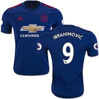 Футбольная форма Манчестер Юнайтед Ибрагимович (Manchester United Ibrahimovic) 2016-2017 Выездная (Синяя)