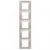 Рамка 5 постов вертикальный монтаж титан Schneider Electric Sedna