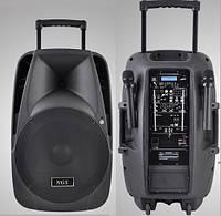 NGS PMQ12AMFQ-V2BP активная АС с аккумулятором и двумя беспроводными микрофонами