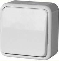 Выключатель одноклавишный e.touch.1111.w.blister для внешнего монтажа, белый, в блистерной упаковке.