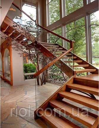 Сходи дерев'яні на тятивах