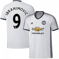 Футбольная форма Манчестер Юнайтед Ибрагимович (Manchester United Ibrahimovic) 2016-2017 Выездная (Белая)