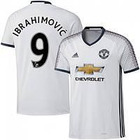 Футбольная форма Манчестер Юнайтед Ибрагимович (Manchester United Ibrahimovic) 2016-2017 Выездная (Белая), фото 1