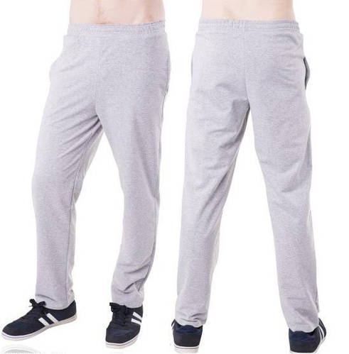 Светло серые спортивные штаны мужские трикотажные прямые Украина